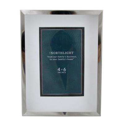 Northlight 4 In X 6 In Silver Picture Frame For All Occasions New Year S Etc 33906224 The Home Depot