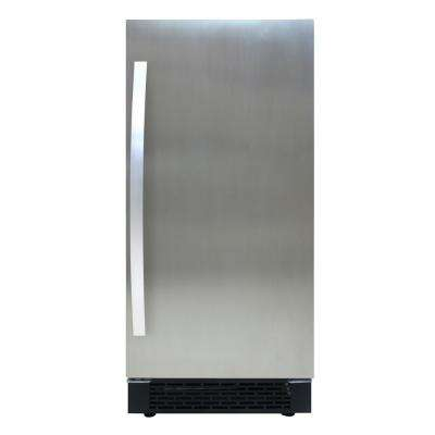14.94 in. 32 lbs. Built-In Indoor Ice Maker in Stainless Steel