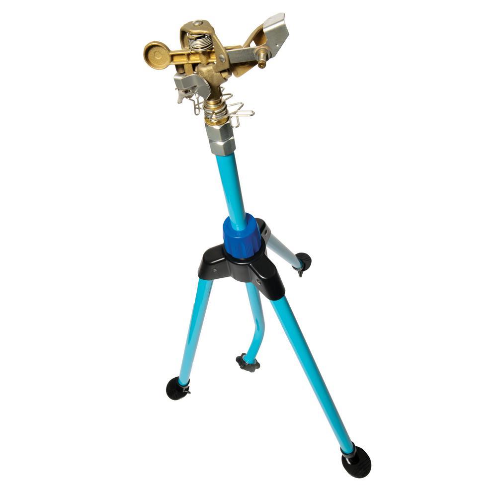AQUA JOE 360° Indestructible Brass Impulse Sprinkler