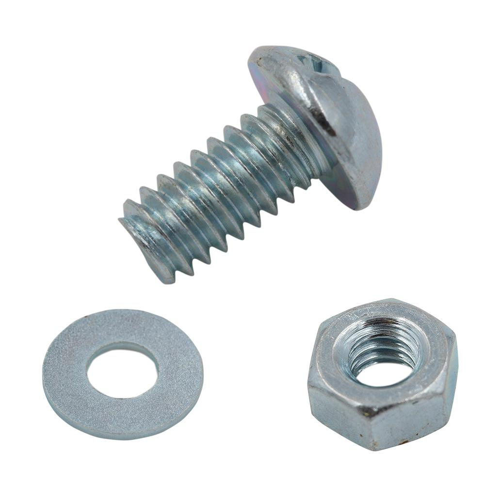 Zinc Plated License Plate Fastener Kit (20-Pack)