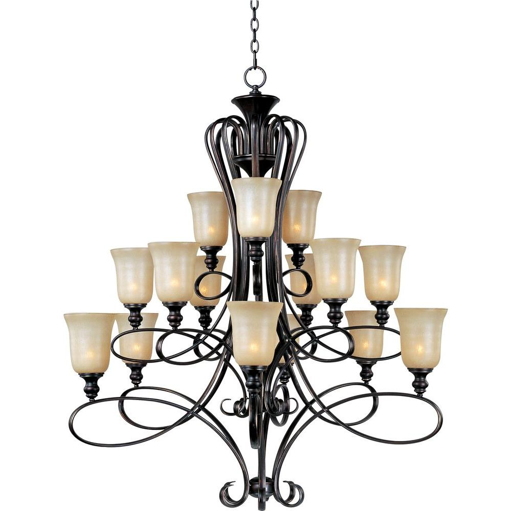 Globe Chandeliers Lighting The Home Depot No Color Code Wiring Light Fixture Additionally Geneva 18 Foyer Infinity 15 Oil Rubbed Bronze Multi Tier Chandelier