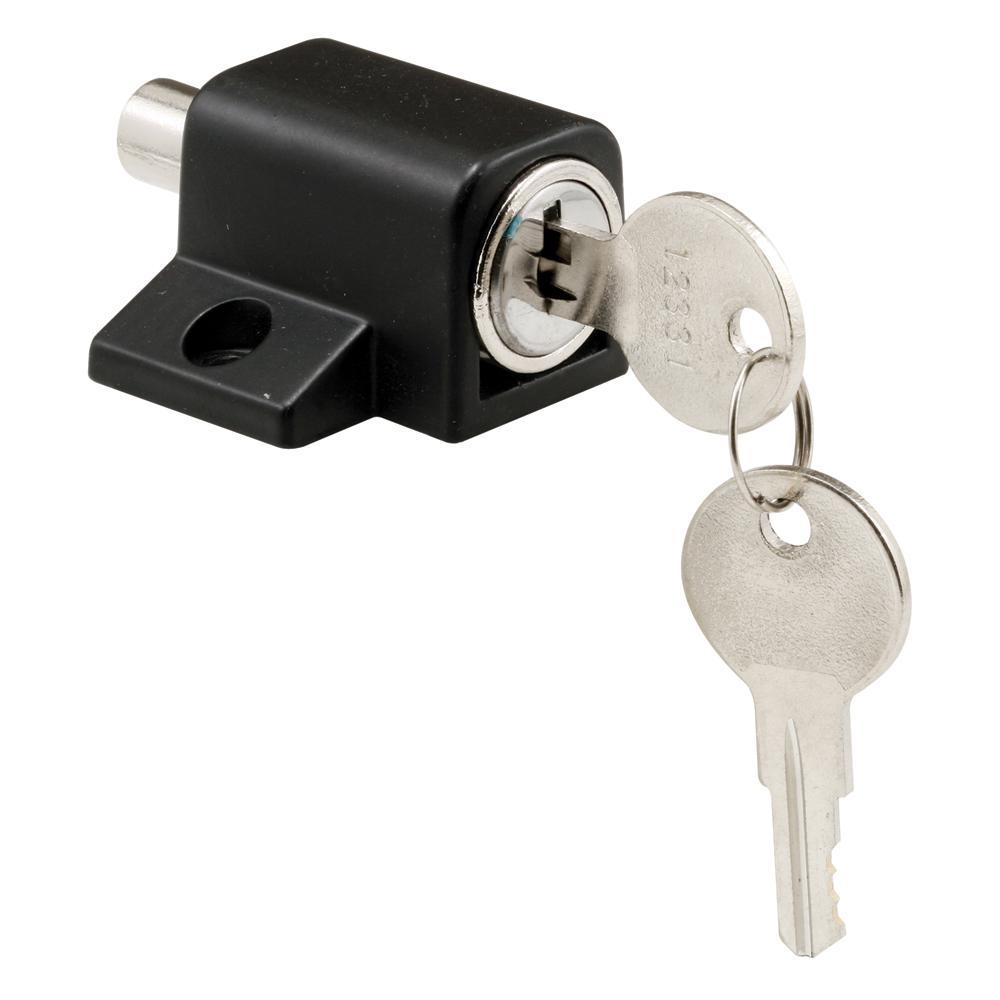 Prime-Line Black Push-In Sliding Door Keyed Lock by Prime-Line