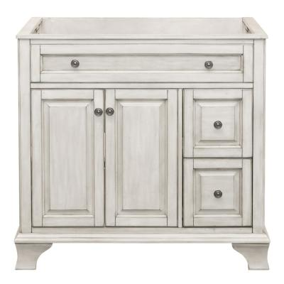 Corsicana 36 in. W x 21.5 in. D Vanity Cabinet Only in Antique White