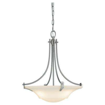 Barrington 3-Light Brushed Steel Uplight Chandelier Shade