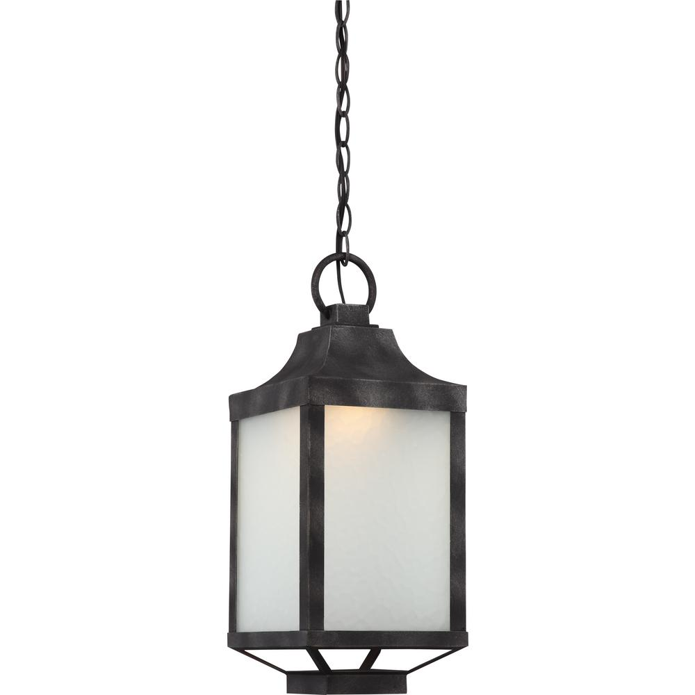 Iron Black 1-Light Outdoor Hanging Lantern