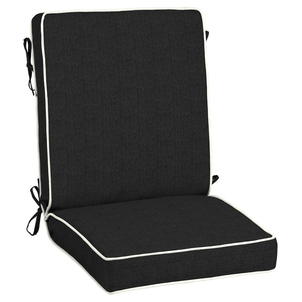 21 x 20 Outdoor Dining Chair Cushion in Sunbrella Canvas Black