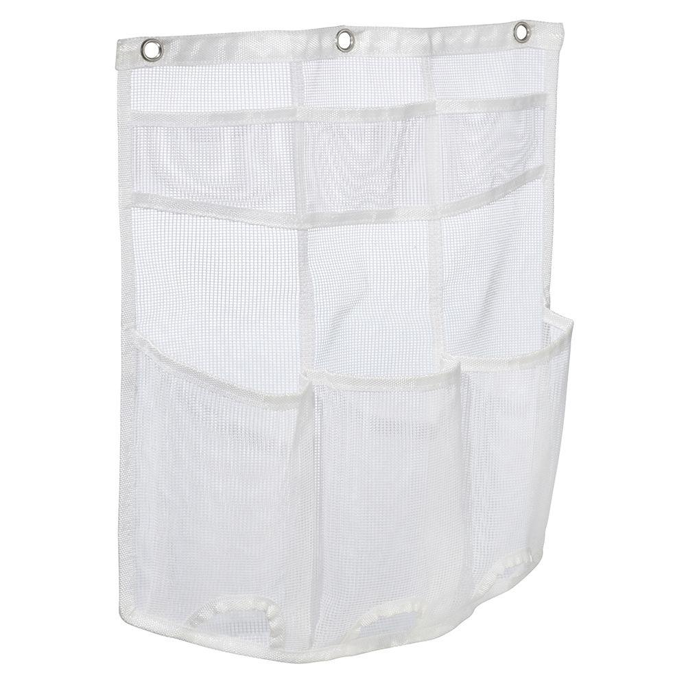 interDesign Una Mesh Shower Caddy White-04100 - The Home Depot