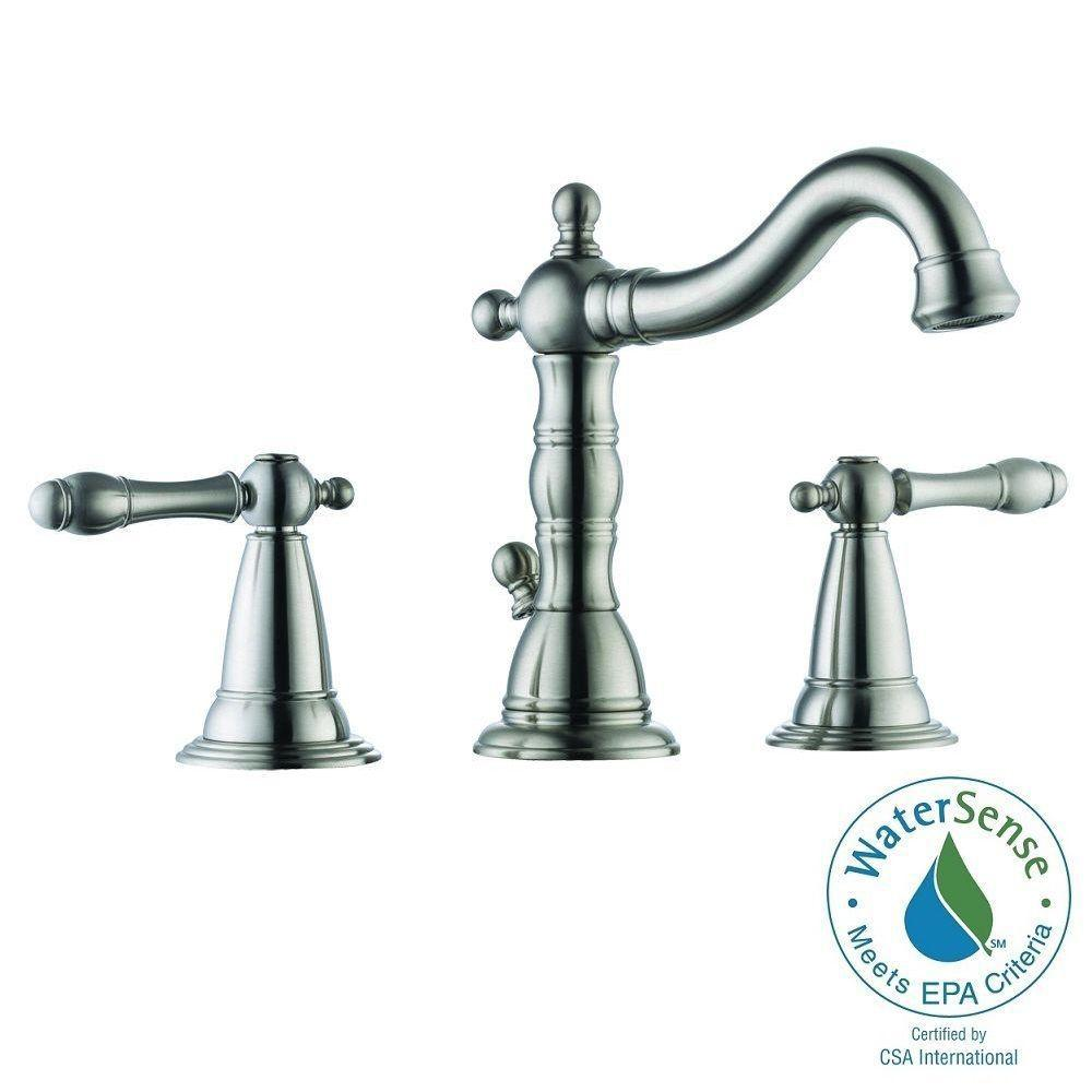 MOEN 90-Degree Single Hole 1-Handle Mid-Arc Lavatory Faucet in ...