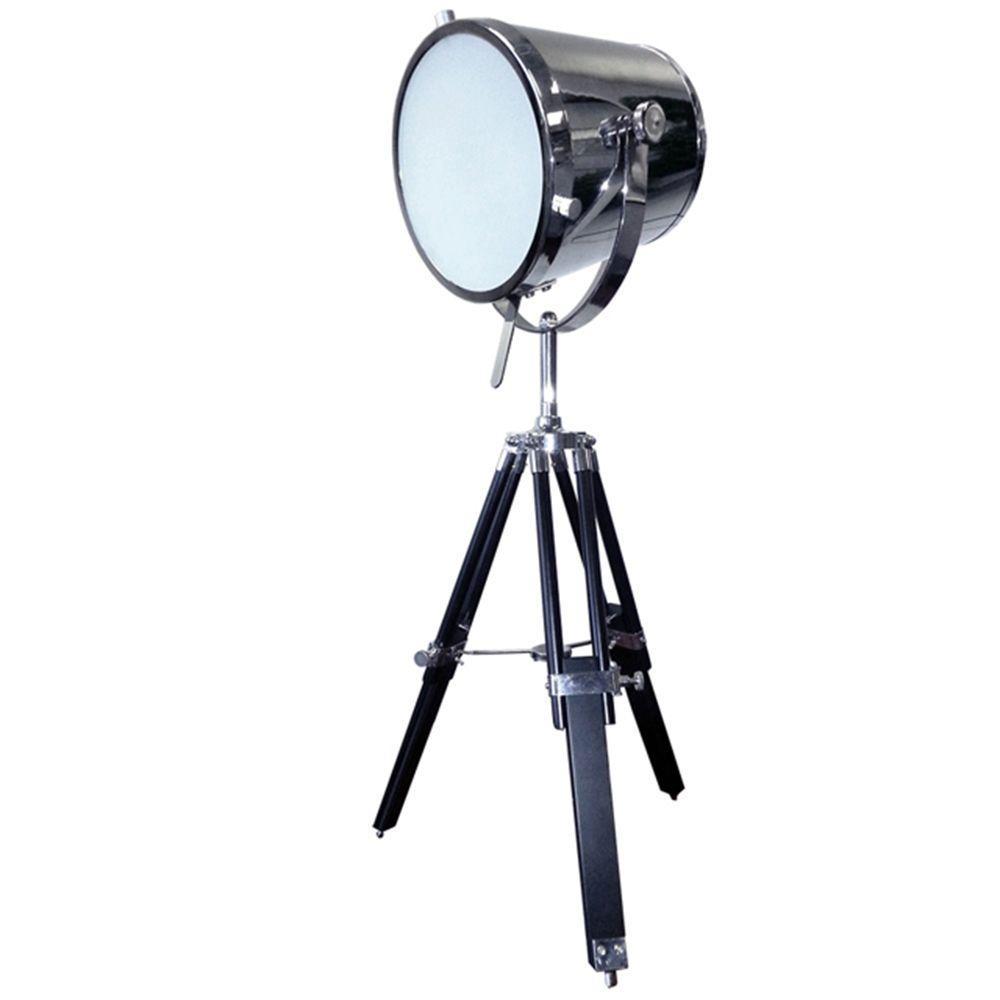Miretti 30 in. Chrome Table Lamp