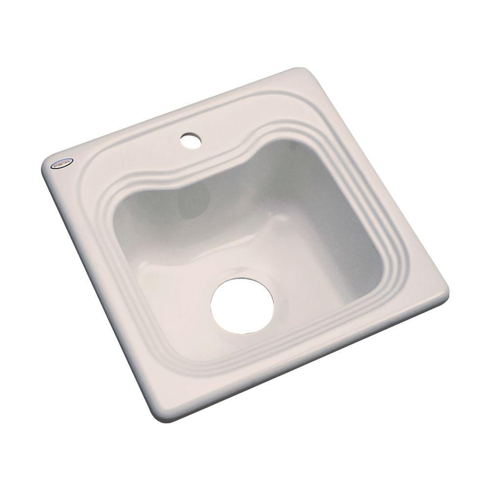 Oxford Drop-In Acrylic 16 in. 1-Hole Single Bowl Kitchen Sink in