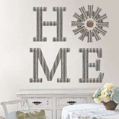 Silver Vintage WindMill Wall Decal