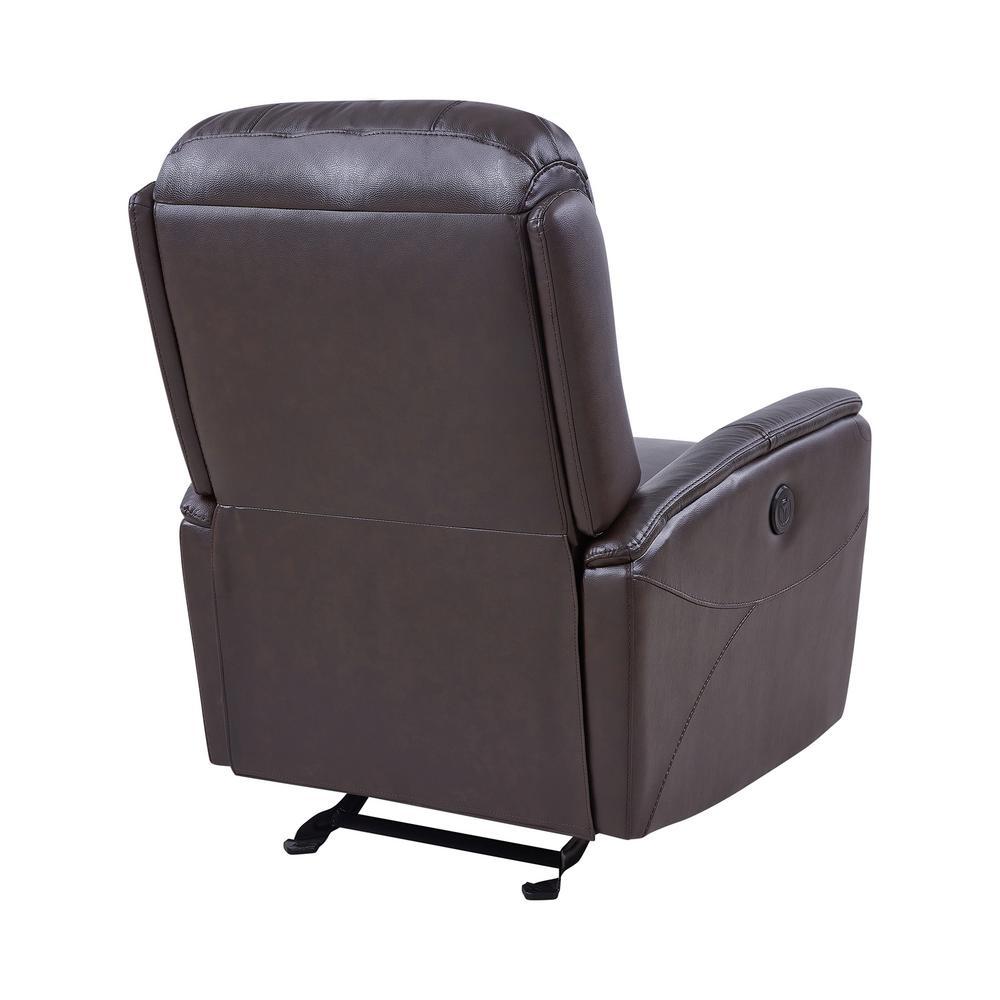 Groovy Armen Living Wolfe Dark Brown Genuine Leather Contemporary Spiritservingveterans Wood Chair Design Ideas Spiritservingveteransorg