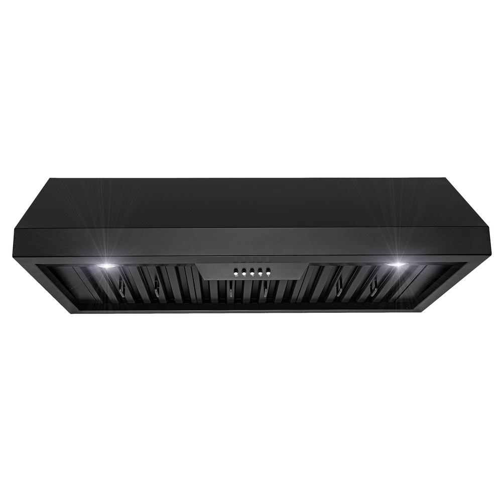 36 in. Under Cabinet Range Hood in Stainless Steel with LEDs