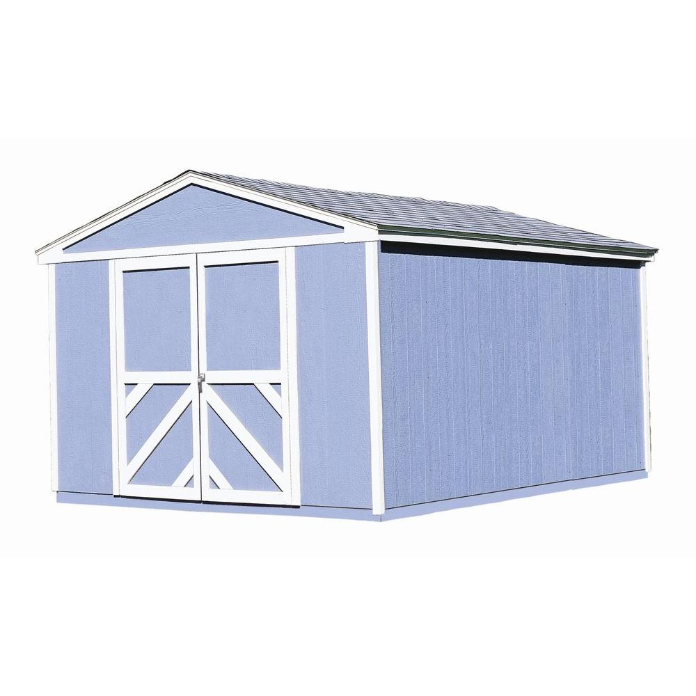 handy home products somerset 10 ft x 14 ft wood storage building kit 7 - Garden Sheds 7 X 14