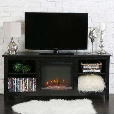 Essential Black Fire Place Entertainment Center