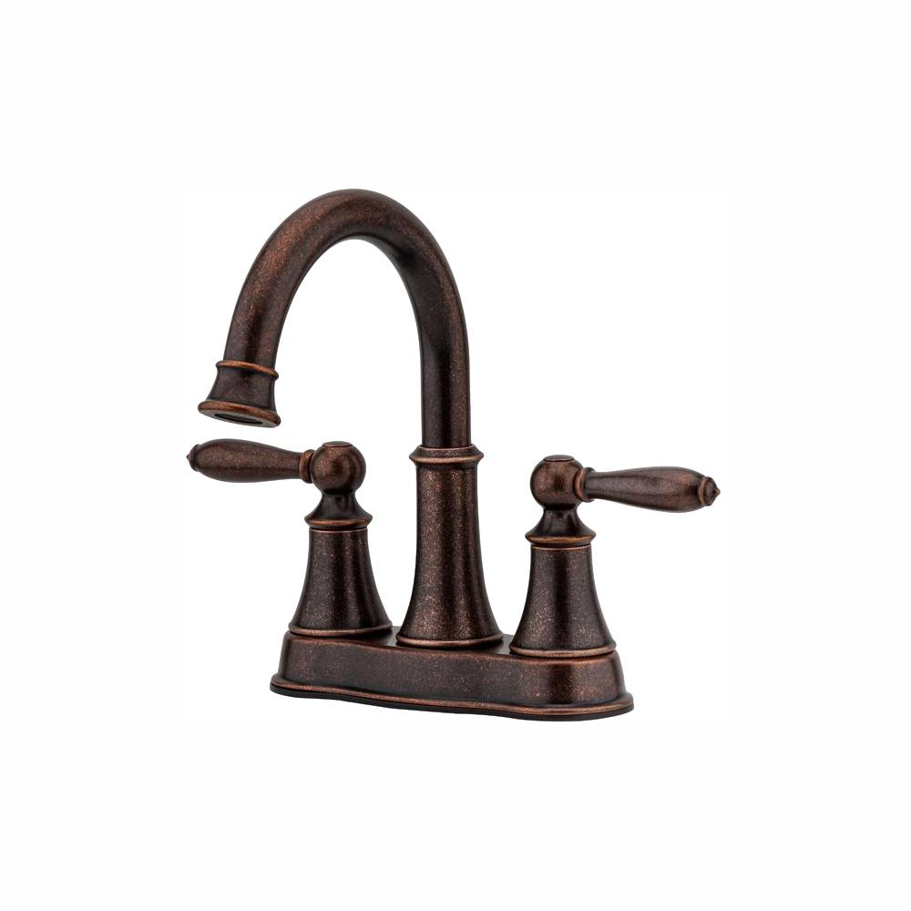 Pfister Courant 4 in. Centerset 2-Handle Bathroom Faucet in Rustic Bronze