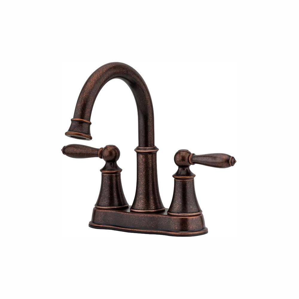 Courant 4 in. Centerset 2-Handle Bathroom Faucet in Rustic Bronze