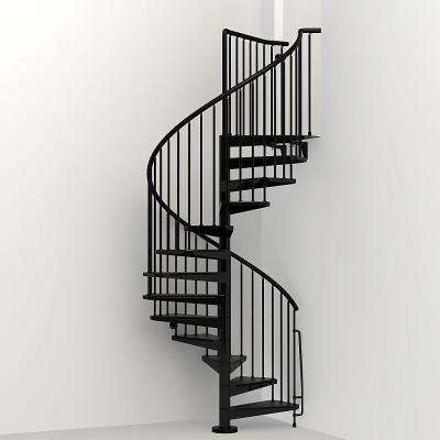 Civik 63 in. Black Spiral Staircase Kit