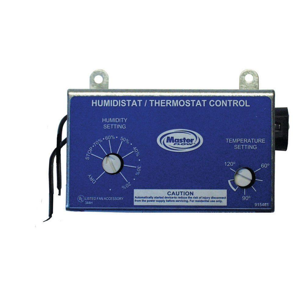 Master Flow Manually Adjustable Humidistat Thermostat Control For