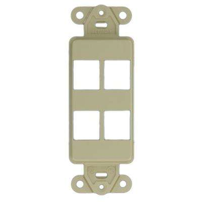 1-Gang Decora QuickPort 4-Port Insert in Ivory