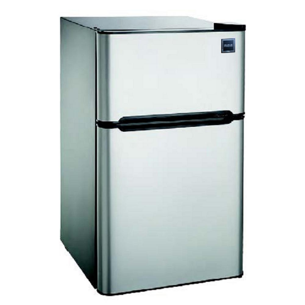 eea078b6bb7 RCA 4.5 cu. ft. Mini Fridge in Stainless Steel-RFR459 - The Home Depot