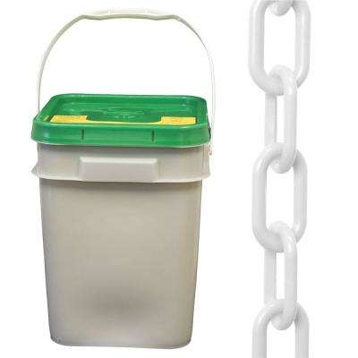 2 in. (#8, 51 mm) x 160 ft. Pail White Plastic Chain