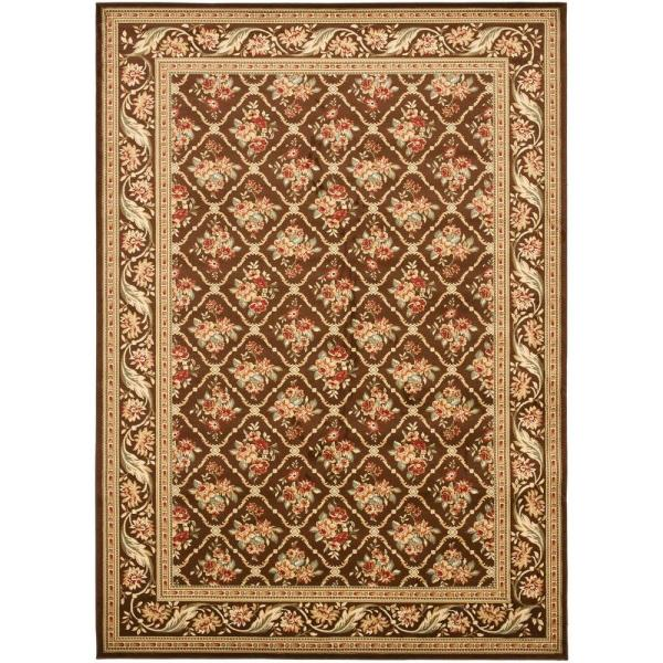 Safavieh Lyndhurst Brown 7 Ft X 10 Ft Area Rug Lnh556 2525 7 The Home Depot