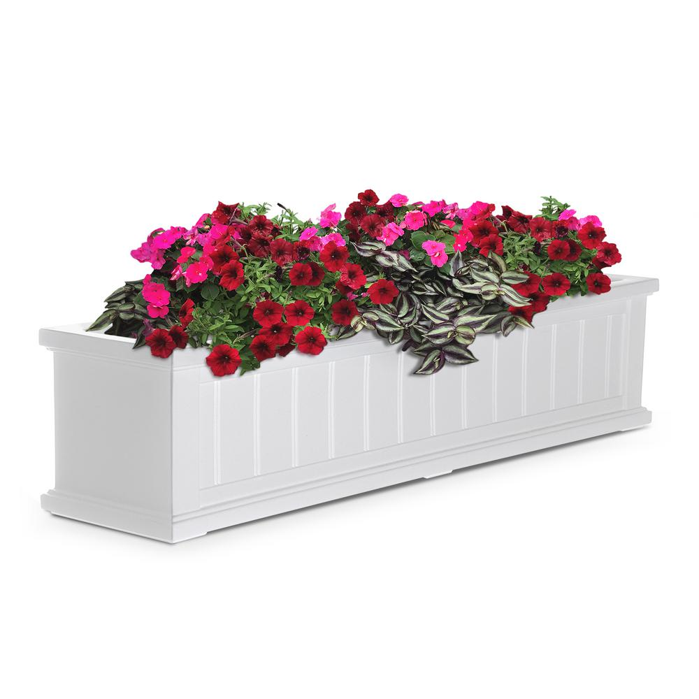Mayne 11 In X 48 In White Cape Cod Window Box 4841 W The Home Depot