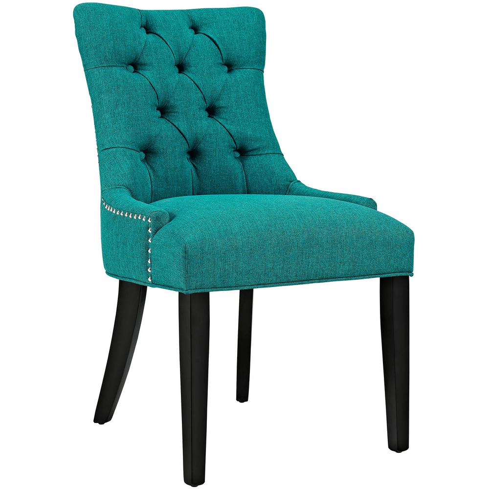 teal dining chairs modway regent teal fabric dining chair eei 2223 tea the 11531