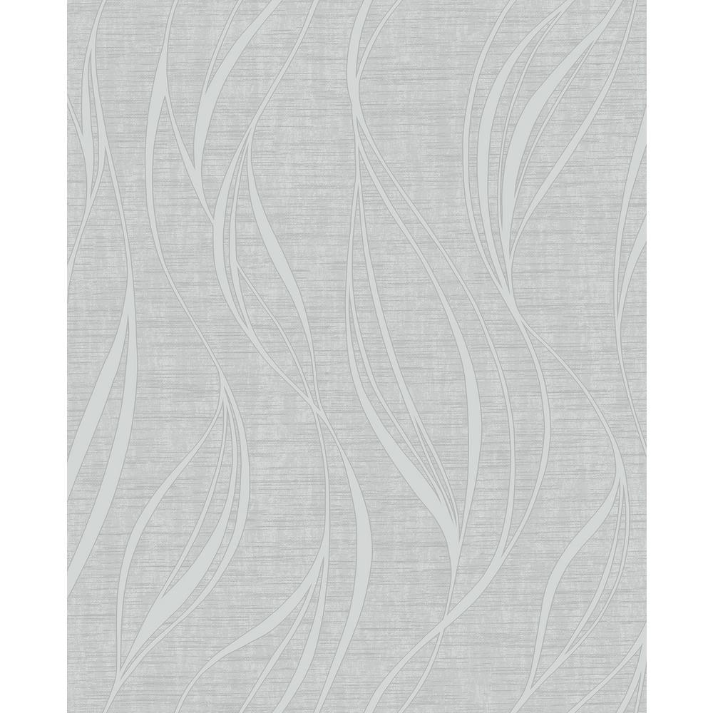 Orson Silver Wave Paper Strippable Roll (Covers 56.4 sq. ft.)