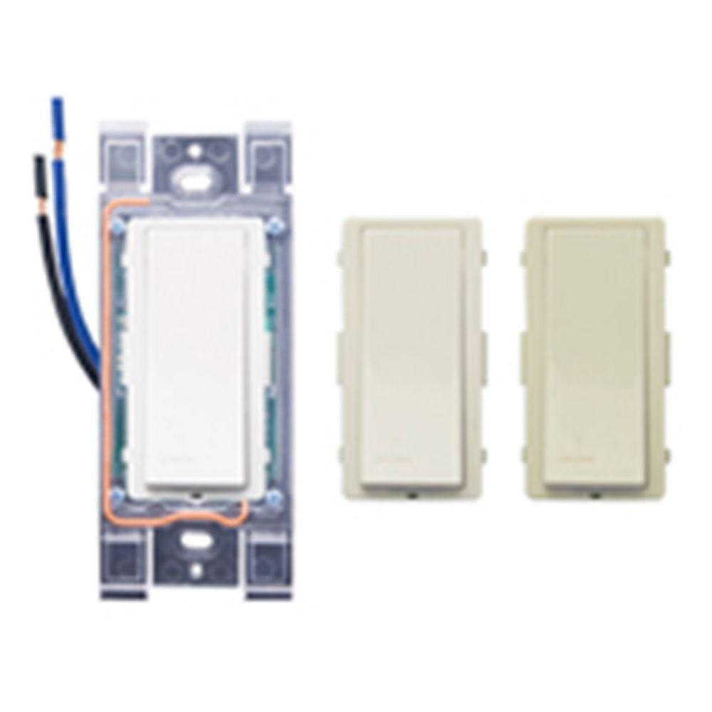 Leviton LevNet Basic RF Wall Switch Receiver with Color Change Kit - White-DISCONTINUED