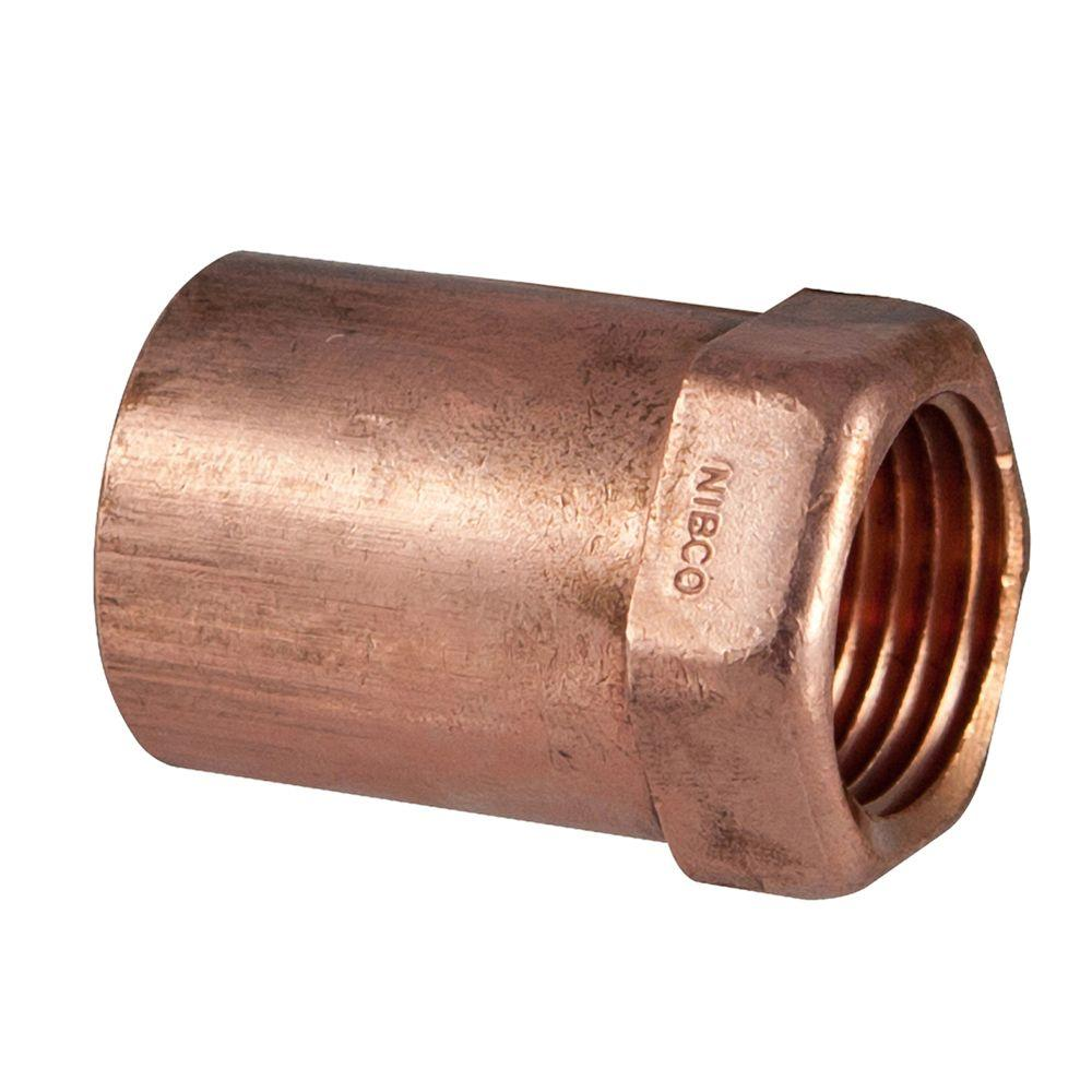1/2 in. x 3/8 in. Copper Pressure Cup x FIPT Female