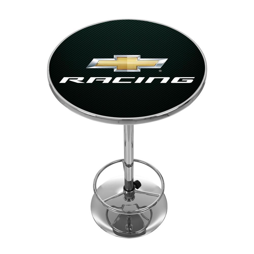 Chevrolet Chevy Racing Chrome Pub/Bar Table