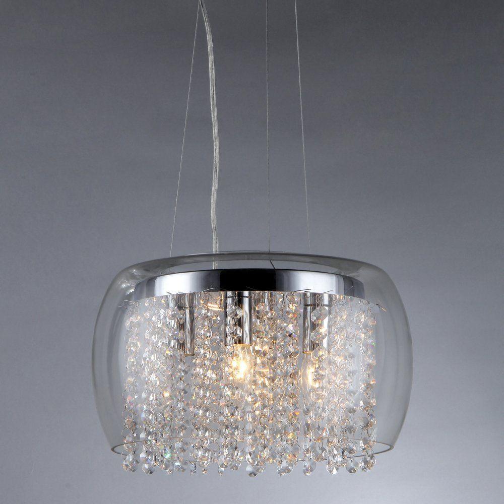 Warehouse of Tiffany Nereids 4-Light Crystal Chandelier with Shade by Warehouse of Tiffany