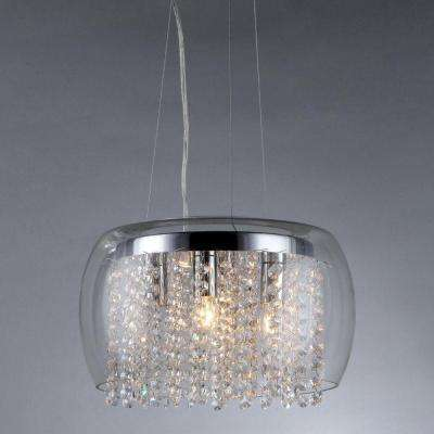 Nereids 4-Light Crystal Chandelier with Shade