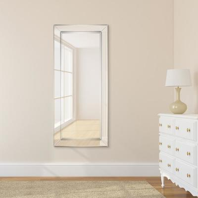 Medium Rectangle Clear Beveled Glass Modern Mirror (24 in. H x 54 in. W)