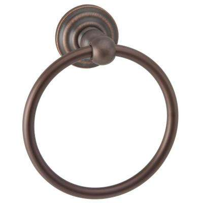 Brentwood Towel Ring in Aged Bronze