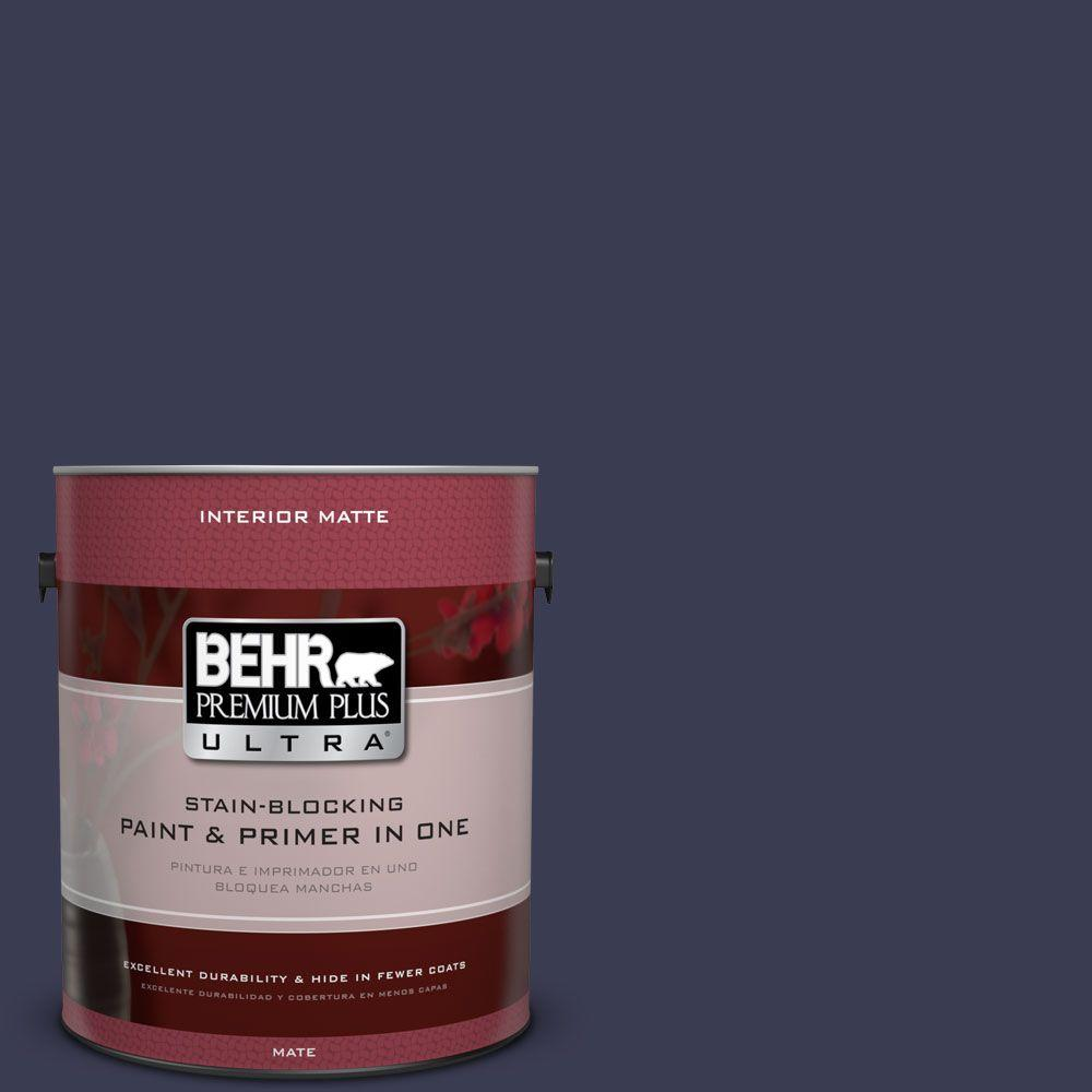 1 gal. #HDC-WR16-03 Blueberry Tart Matte Interior Paint