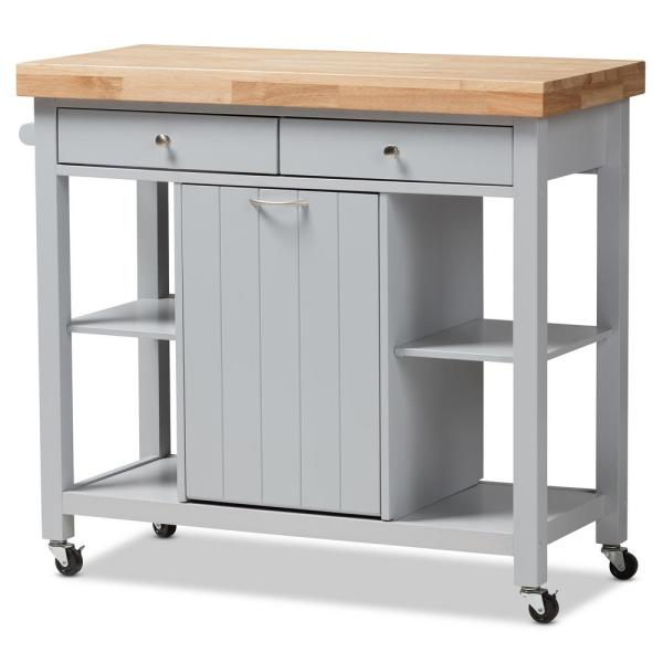 Baxton Studio Hayward Gray Kitchen Cart With Pull Out Garbage Bin 143 7947 Hd The Home Depot,Lebanon New Hampshire Airport
