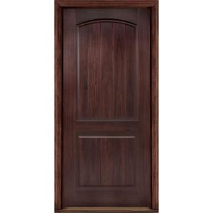 AvantGuard Sierra 2 Panel Right Hand Outswing Finished Smooth Fiberglass  Prehung Front Door No Brickmold 10270   The Home Depot