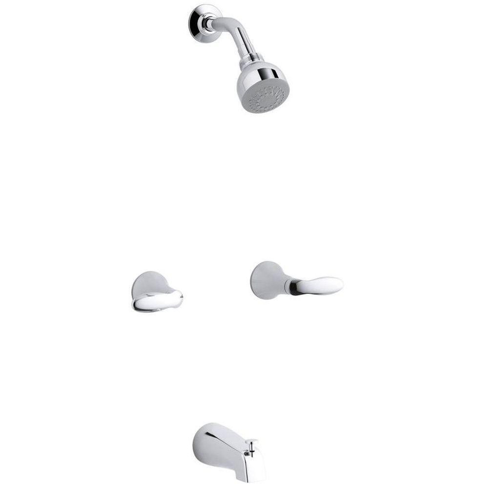 KOHLER Coralais 2-Handle Tub and Shower Faucet Trim Only in Polished ...