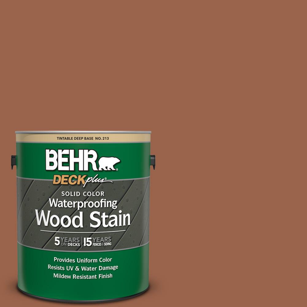 BEHR DECKplus 1 gal. #SC-122 Redwood Naturaltone Solid Color Waterproofing Exterior Wood Stain