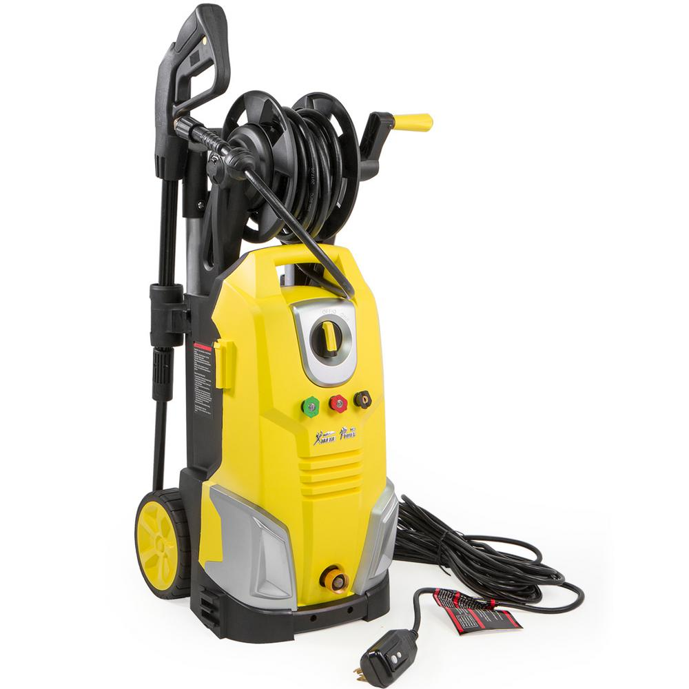 XtremepowerUS 2000-PSI 1 7-GPM Electric Pressure Washer with Hose Reel