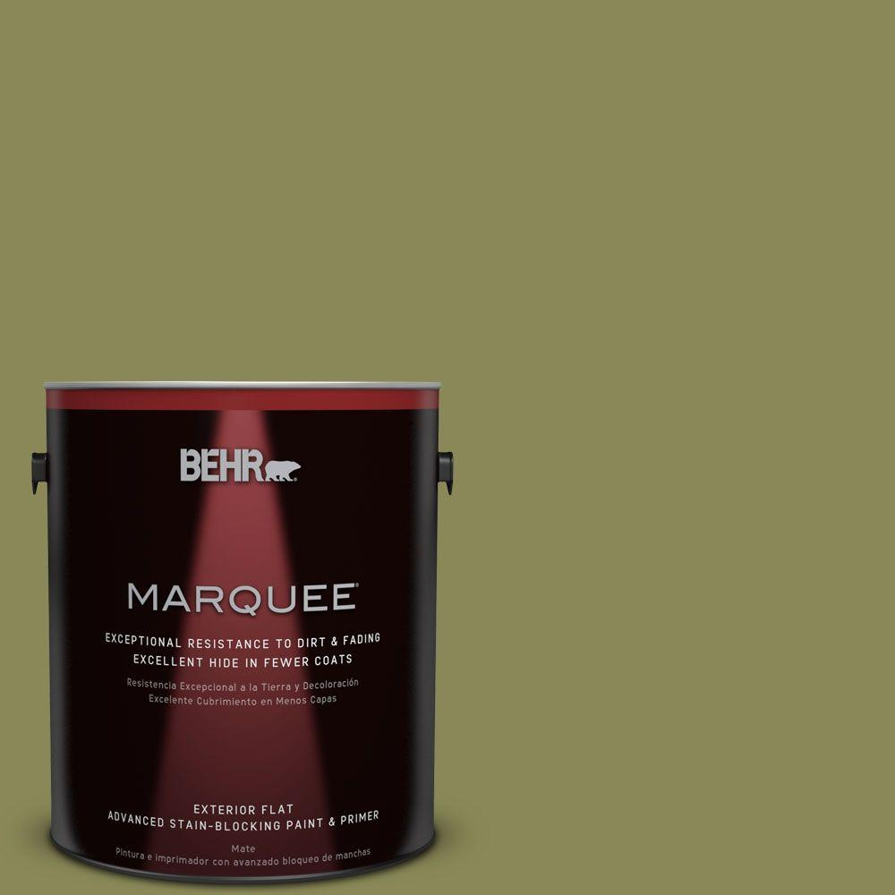 BEHR MARQUEE 1-gal. #S340-6 Fertile Green Flat Exterior Paint