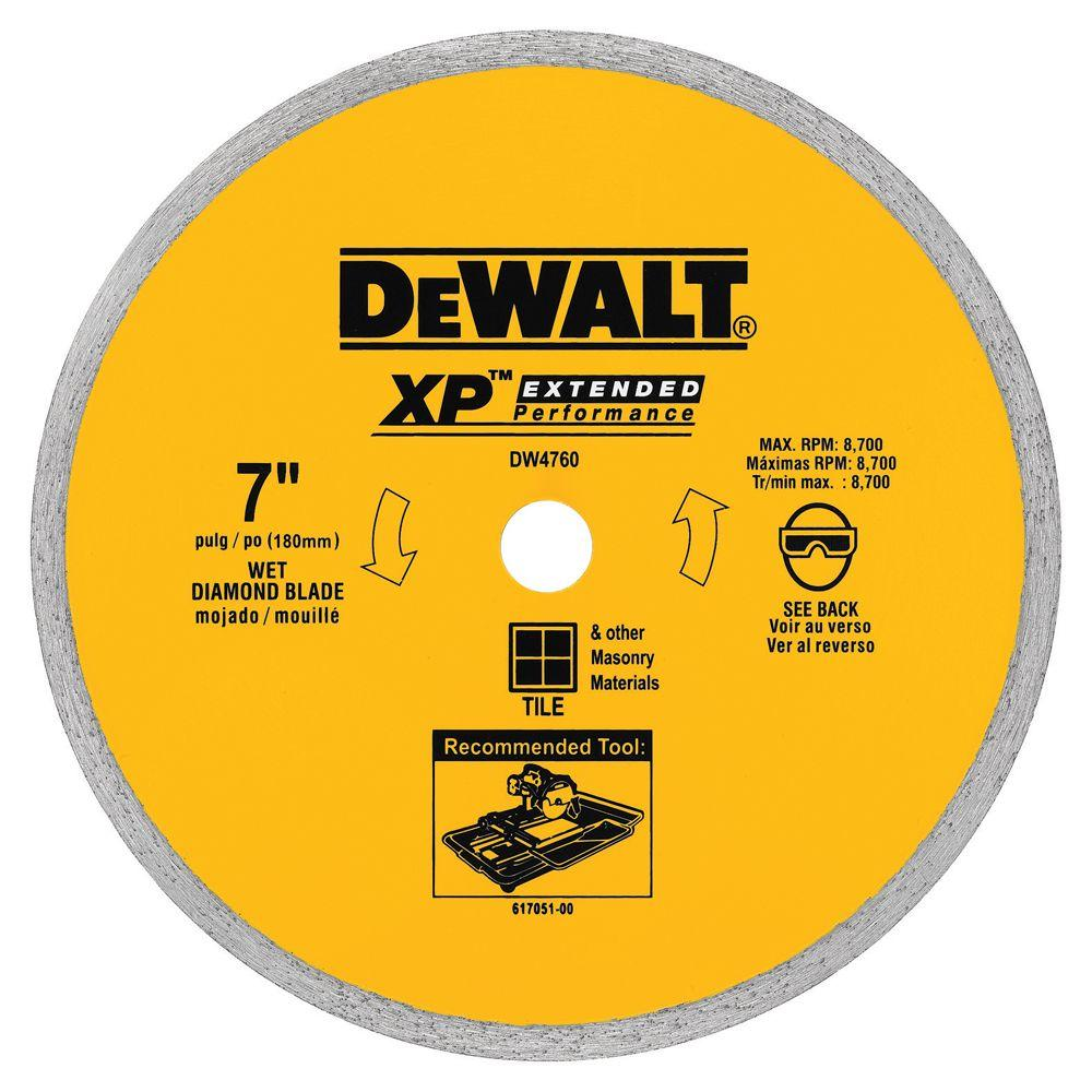 DEWALT 7 in. x 0.060 in. Wet Ceramic Tile Blade