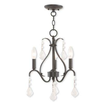 Caterina 3-Light English Bronze Mini Chandelier