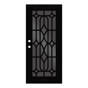 Unique Home Designs 36 inch x 80 inch Essex Black Right-Hand Surface Mount... by Unique Home Designs