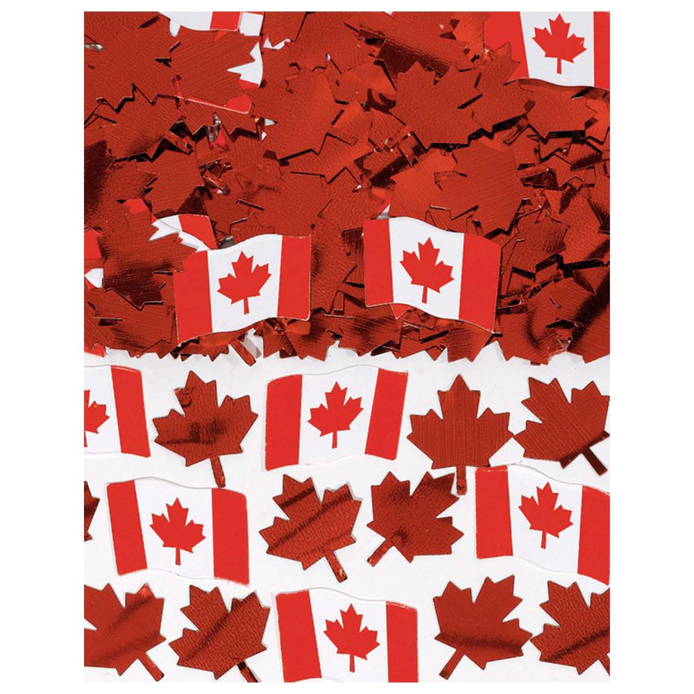 Amscan Canadian Flag Printed Confetti 5 Pack 36650 The