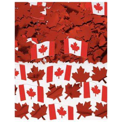 Canadian Flag Printed Confetti (5-Pack)