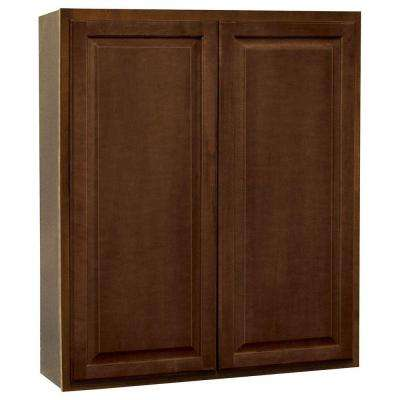 Hampton Assembled 36x42x12 in. Wall Kitchen Cabinet in Cognac